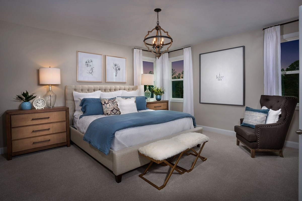 New Homes in Cary, NC - Wynwood South The Jordan II - Master Bedroom
