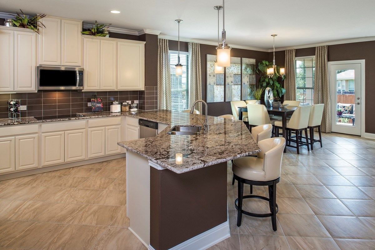 New Homes in Georgetown, TX - Berry Creek The A-2382 Kitchen and Dining Area