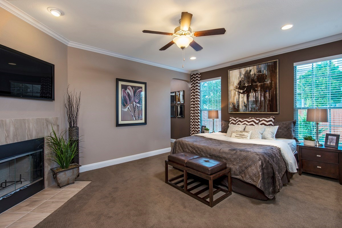 New Homes in Temple, TX - Village of Sage Meadows The A-2382 Master Bedroom