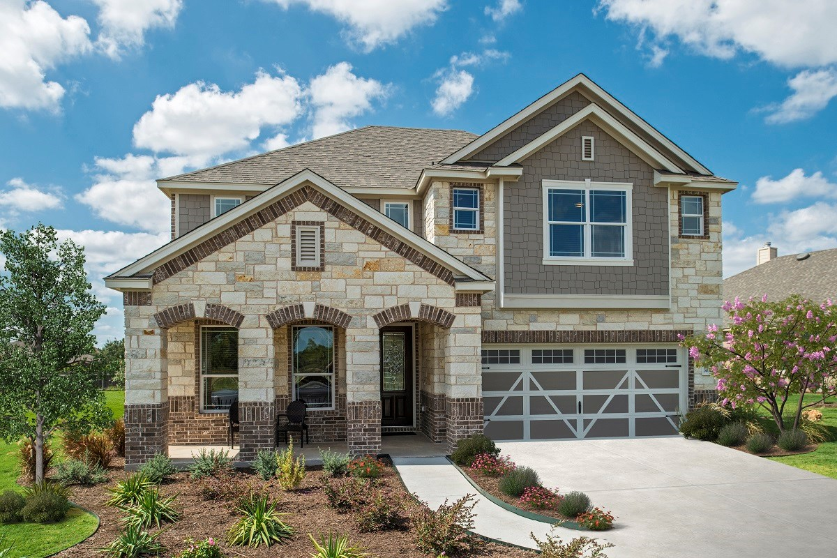 New Homes in Liberty Hill, TX - MorningStar Plan A-3023 as modeled in Berry Creek