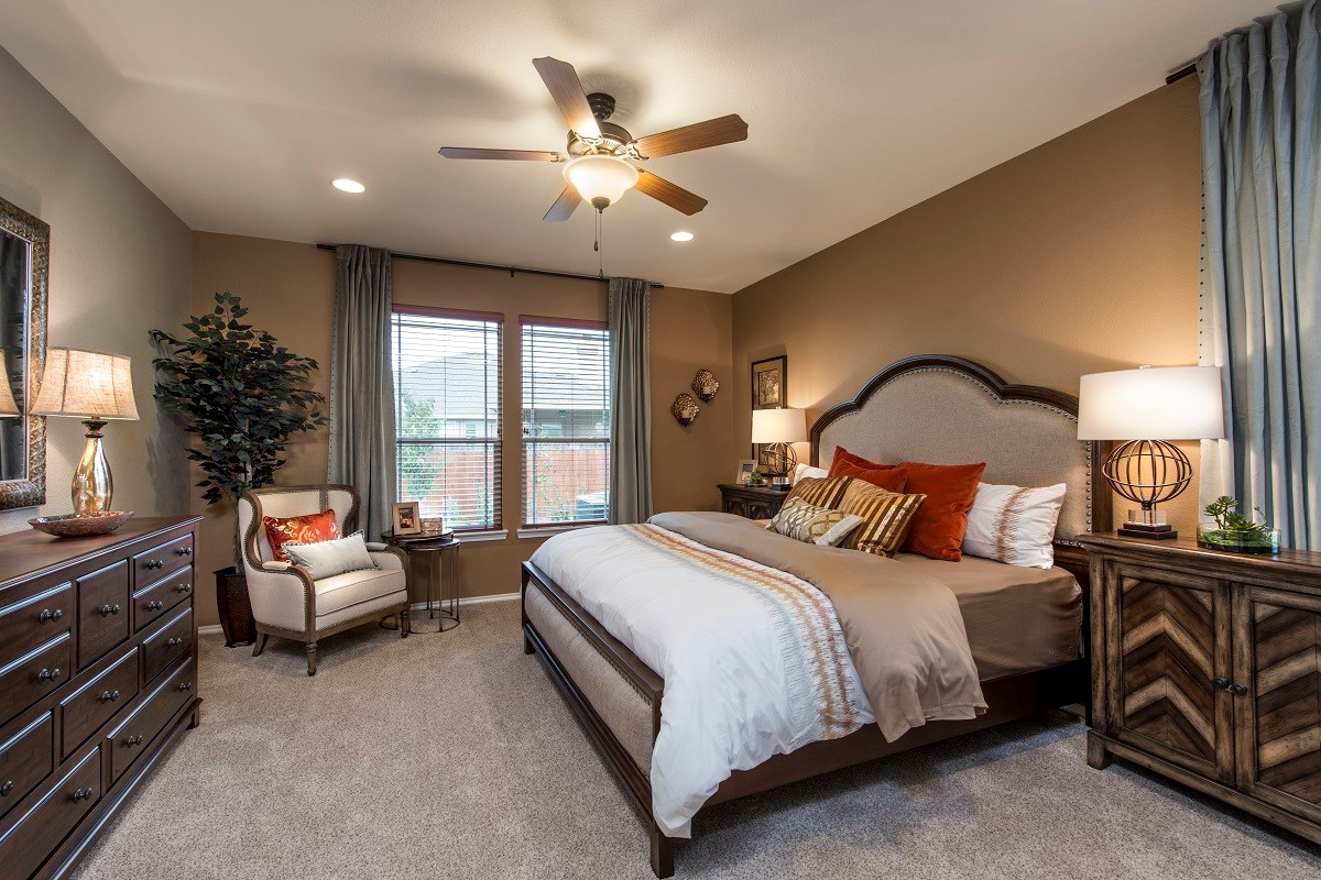 New Homes in Kyle, TX - Brooks Crossing Plan A-3023 Master Bedroom