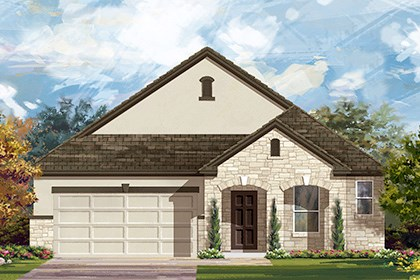 New Homes in Georgetown, TX - The A-1996 D scheme 9
