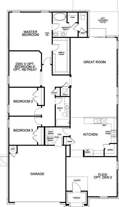 Plan A MODELED New Home Floor Plan In La Conterra Classic - Floor plans for homes in texas 2