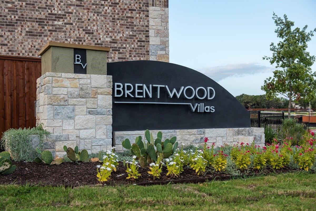 New Homes in Austin, TX - Brentwood Villas Community Entrance