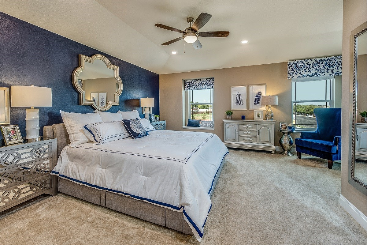 New Homes in Austin, TX - Brentwood Villas Plan F-1909 Master Bedroom