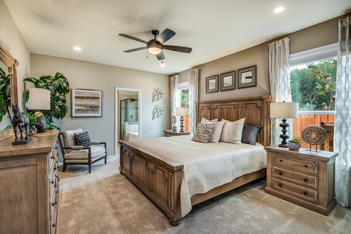 New Homes in Austin, TX - Brentwood Villas Plan F-2495 Master Bedroom