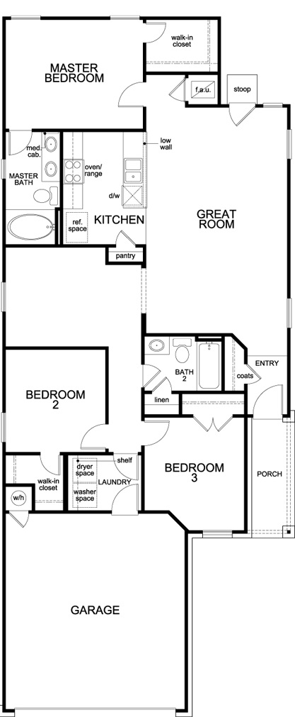 Plan f 1353 new home floor plan in brentwood villas by for Brentwood floor plan