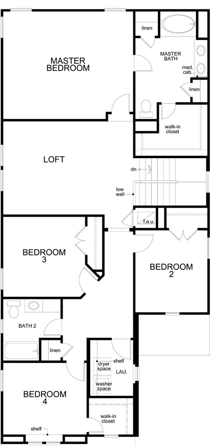 Plan F 2708 New Home Floor Plan In Brentwood Villas By