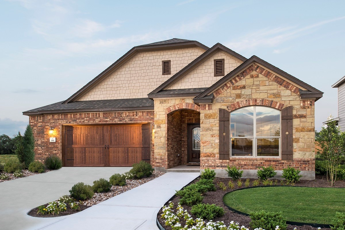 New Homes in Kyle, TX - Brooks Crossing Plan A-1996