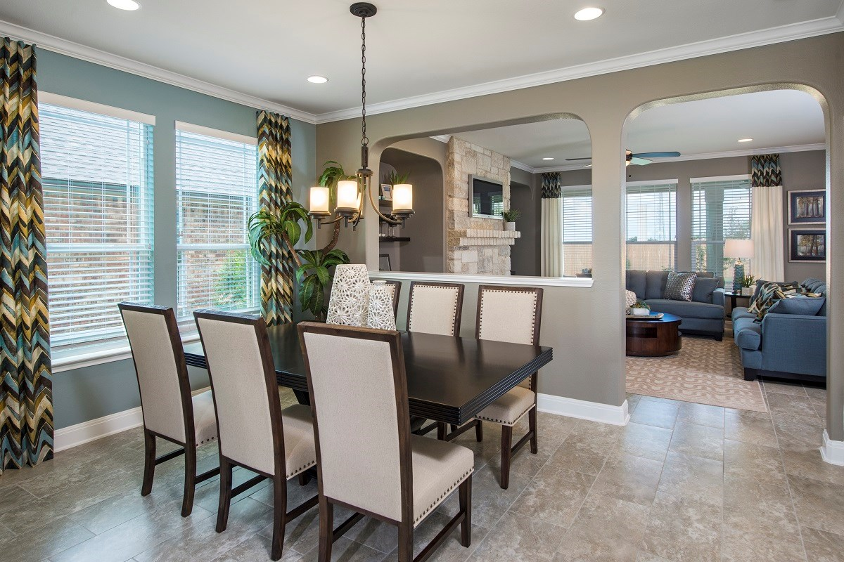 New Homes in Kyle, TX - Brooks Crossing Plan A-2755 Dining Room