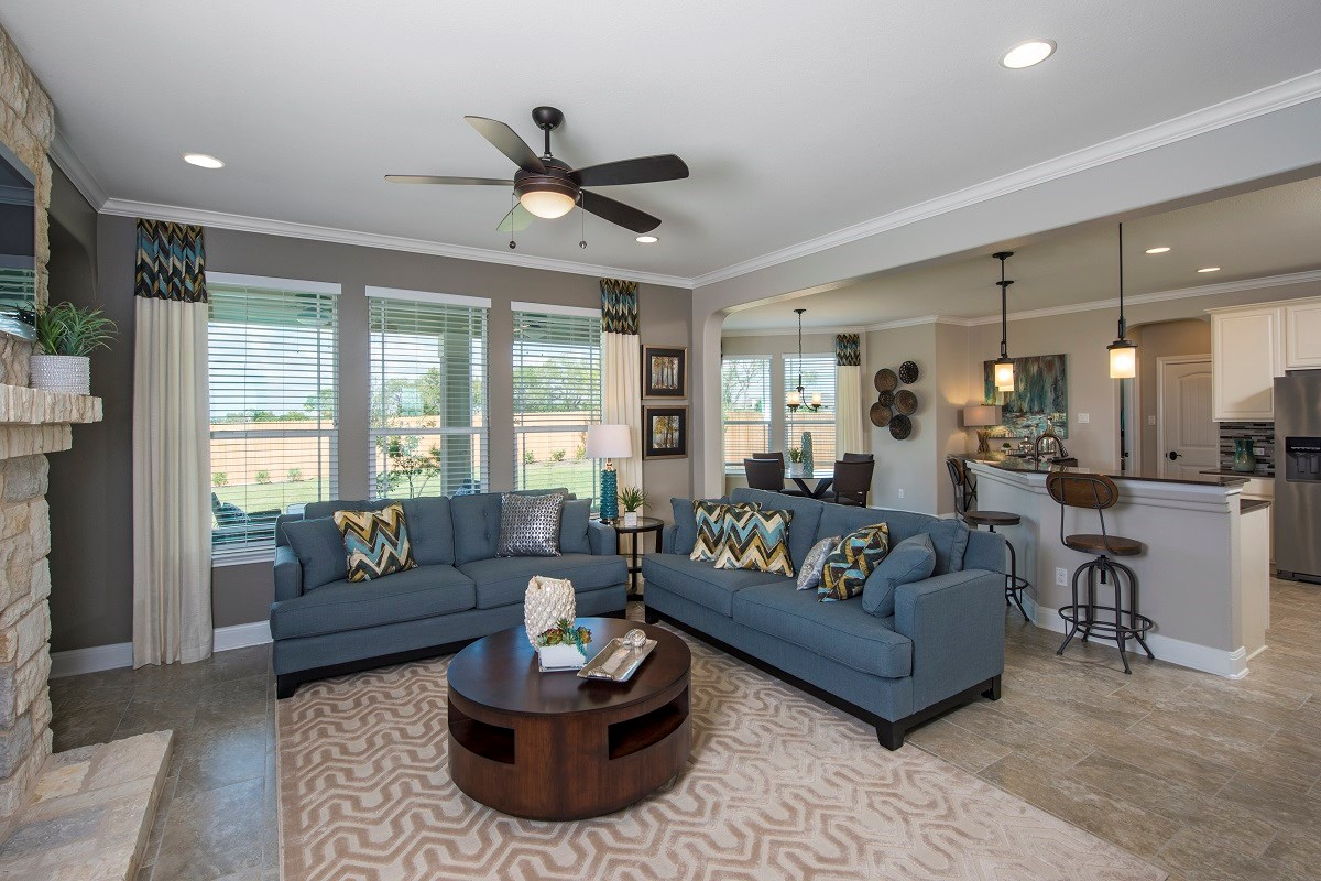 New Homes in Kyle, TX - Brooks Crossing Plan A-2755 Family Room
