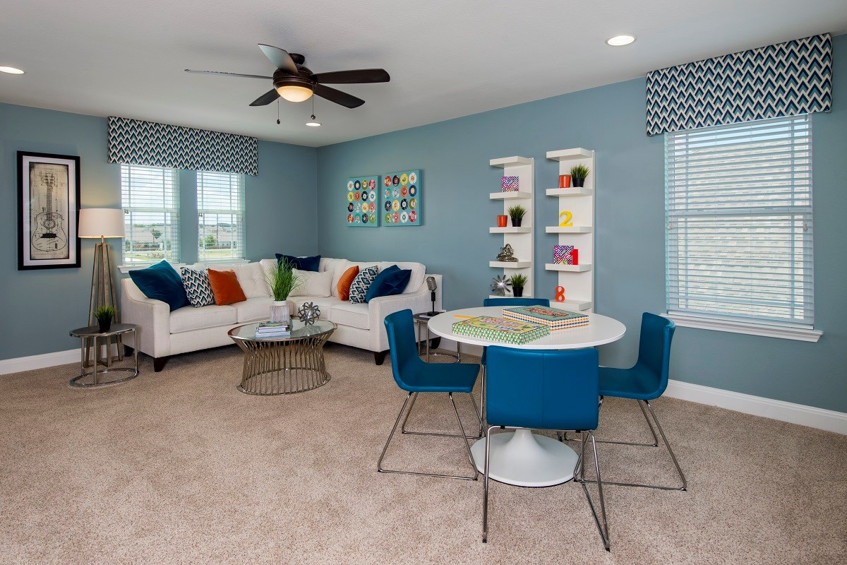 New Homes in Kyle, TX - Brooks Crossing Plan A-2755 Game Room