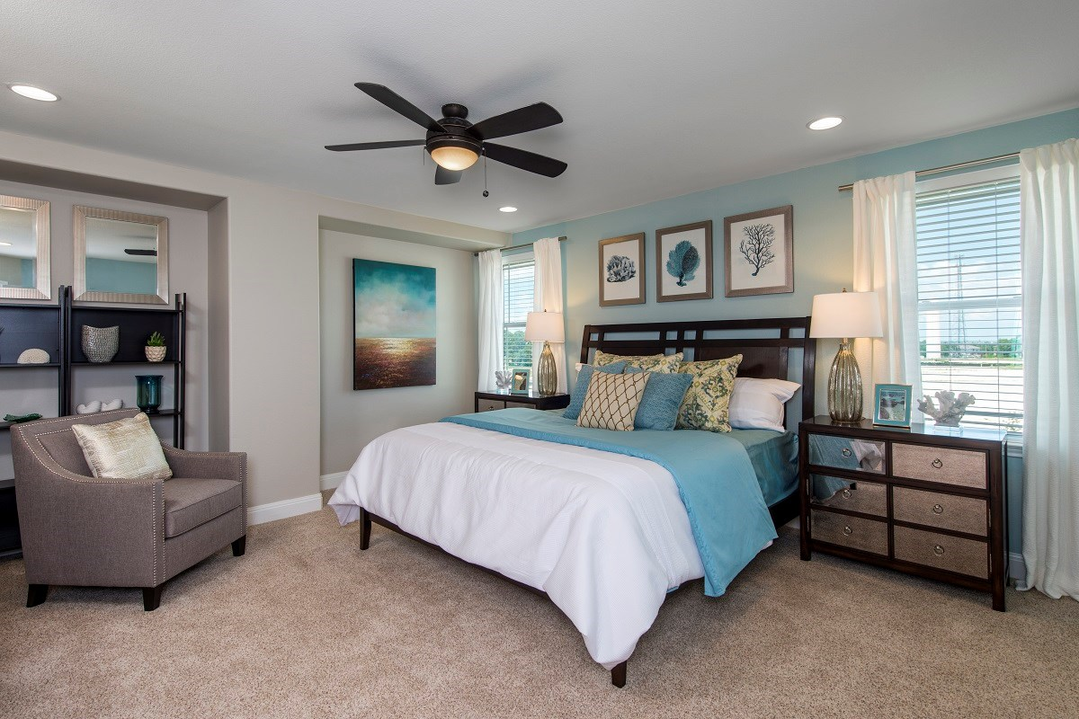 New Homes in Kyle, TX - Brooks Crossing Plan A-2755 Master Bedroom