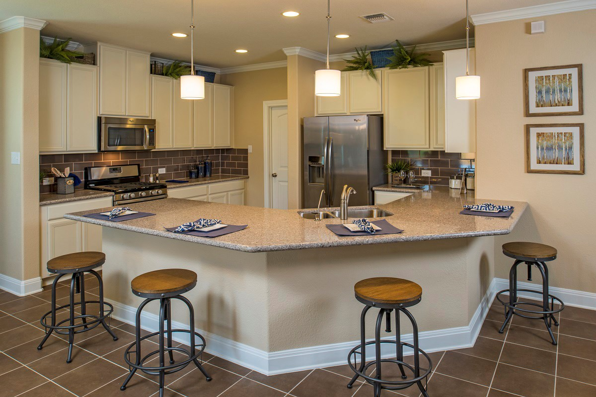 New Homes in Georgetown, TX - Creekside at Georgetown Village Plan E-1647 Kitchen