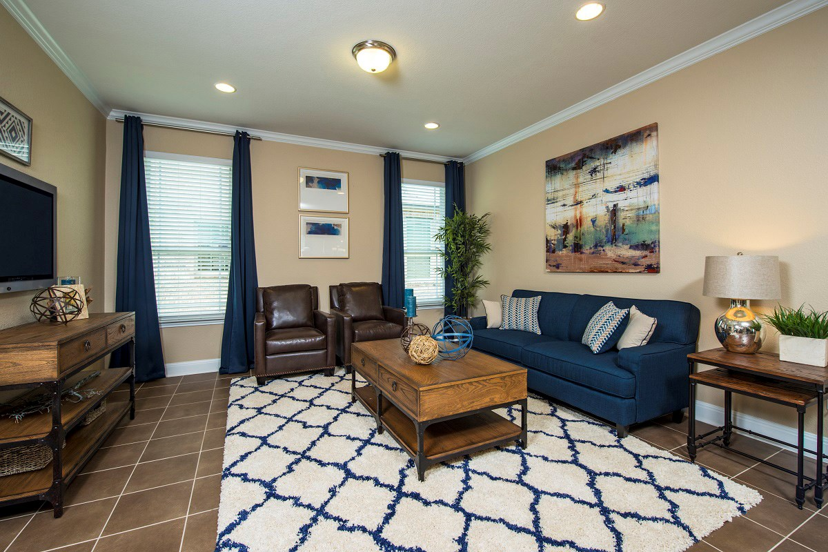 New Homes in Georgetown, TX - Creekside at Georgetown Village Plan E-1647 Living Area