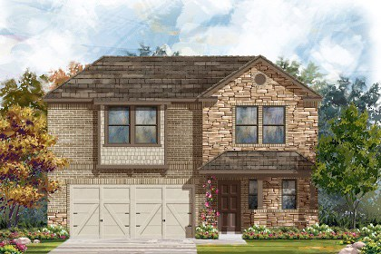 New Homes in Georgetown, TX - Plan E-2412 J