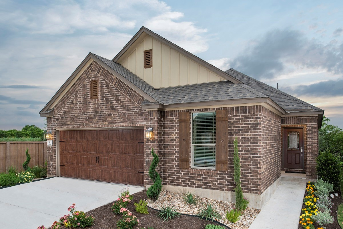 New Homes in Round Rock, TX - Sunrise Villas Plan E-1892 as modeled at The Edgewaters