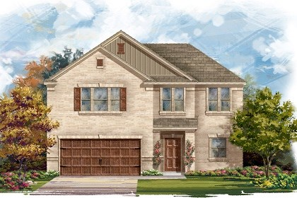 New Homes in Pflugerville, TX - Plan A-2183 A