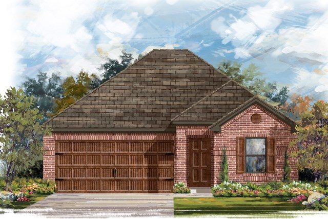 New Homes in Pflugerville, TX - Plan E-1591 H