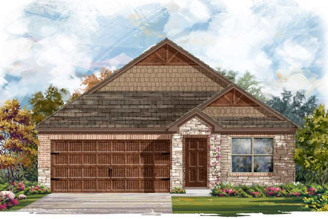 New Homes in Pflugerville, TX - Plan E-1591 J