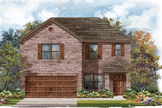 New Homes in Pflugerville, TX - Plan E-2177 H