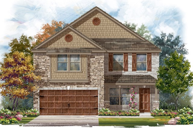 New Homes in Pflugerville, TX - Plan E-2177 J