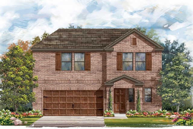 New Homes in Pflugerville, TX - Plan E - 2412 I
