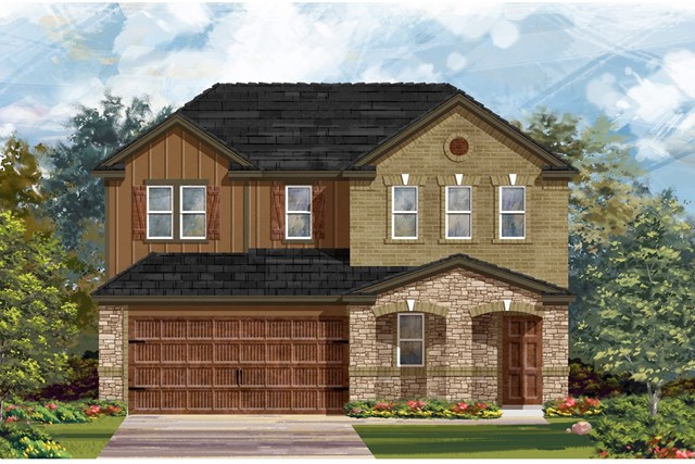 New Homes in Pflugerville, TX - Plan E-2516 J