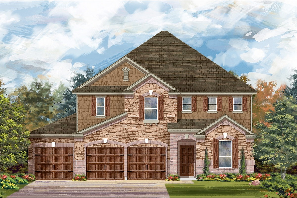 New Homes in Round Rock, TX - Forest Grove – Classic Collection Plan A-3475