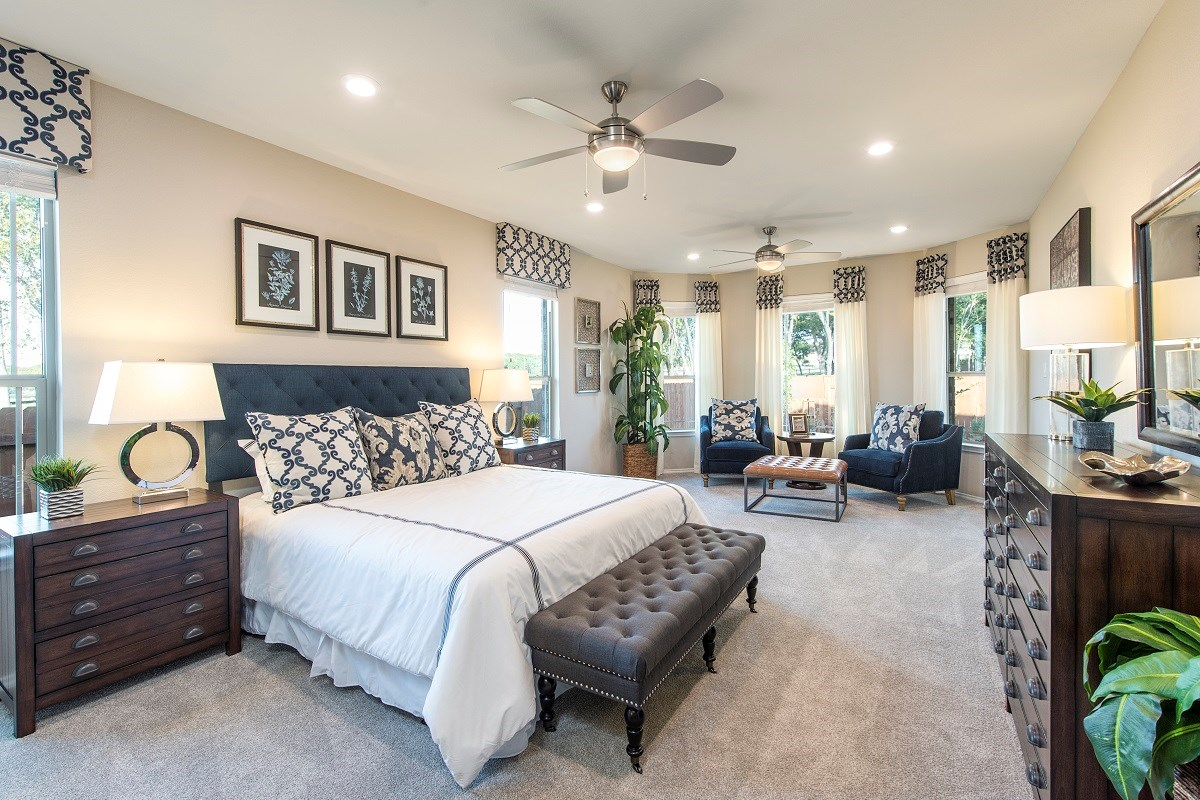 New Homes in Round Rock, TX - Forest Grove - Hallmark Collection Plan L-2663 Master Bedroom