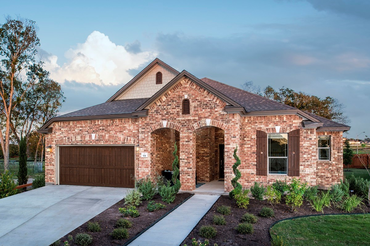 New Homes in Leander, TX - Mason Hills - The Lakes Hallmark Collection Plan L-2663 as modeled at Forest Grove