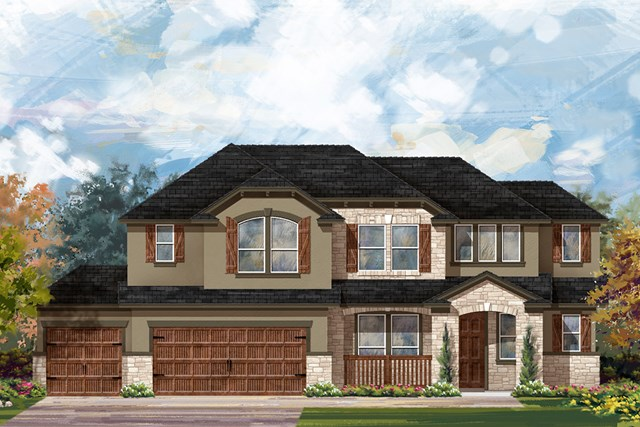 New Homes in Round Rock, TX - Plan L-2915 D