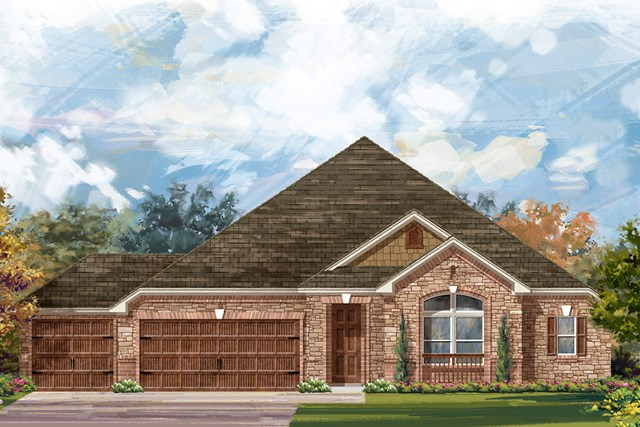 New Homes in Round Rock, TX - Plan L-3005 C