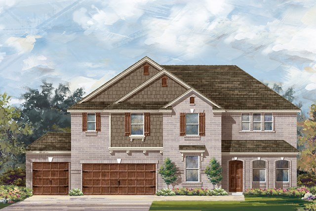 New Homes in Round Rock, TX - Plan 3410 B