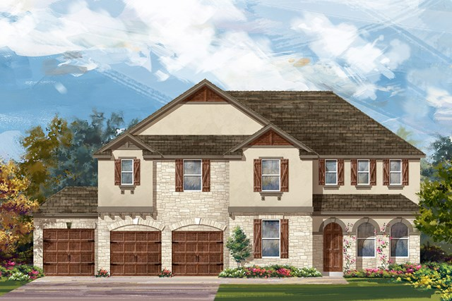 New Homes in Round Rock, TX - Plan 3410 D