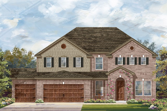New Homes in Round Rock, TX - Plan L-3471 A