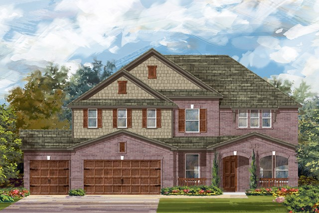 New Homes in Round Rock, TX - Plan L-3471 B