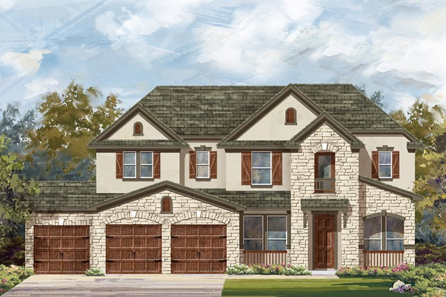 New Homes in Round Rock, TX - Plan L-3471 D