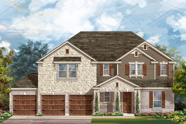 New Homes in Round Rock, TX - Plan 3604 B