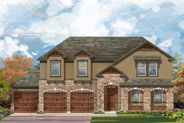 New Homes in Round Rock, TX - Plan L-3959 D