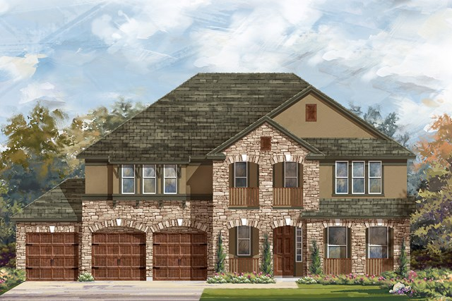 New Homes in Round Rock, TX - Plan L-3974 D