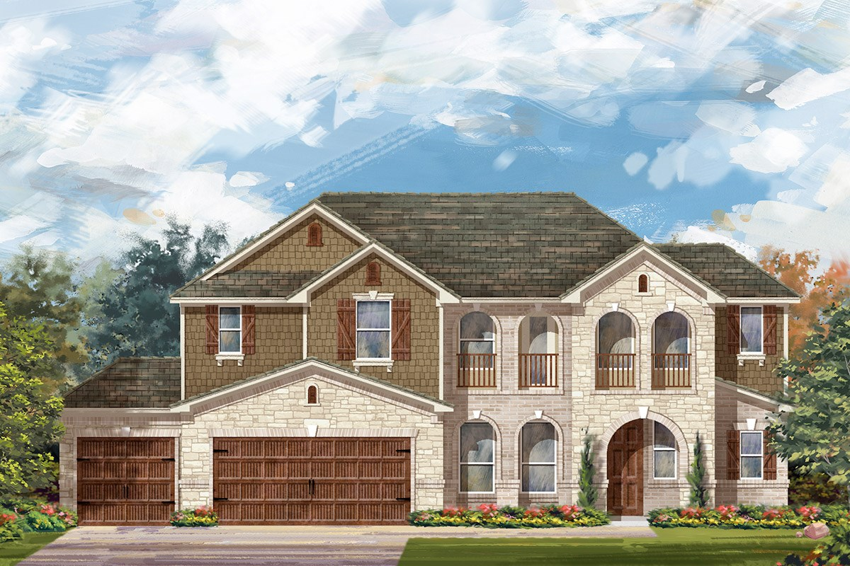 New Homes in Round Rock, TX - Forest Grove - Legend Estates Collection Plan L-2915