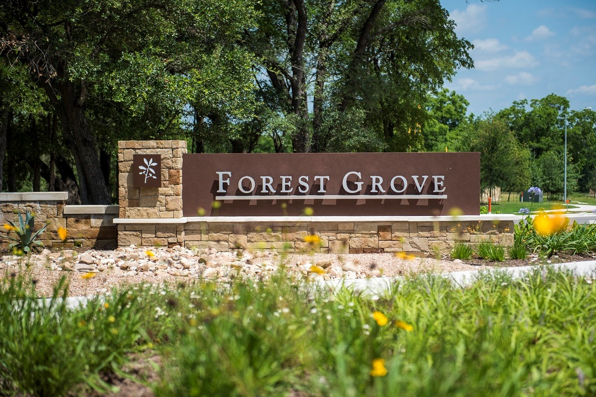 New Homes in Round Rock, TX - Forest Grove - Hallmark Collection Community Entrance