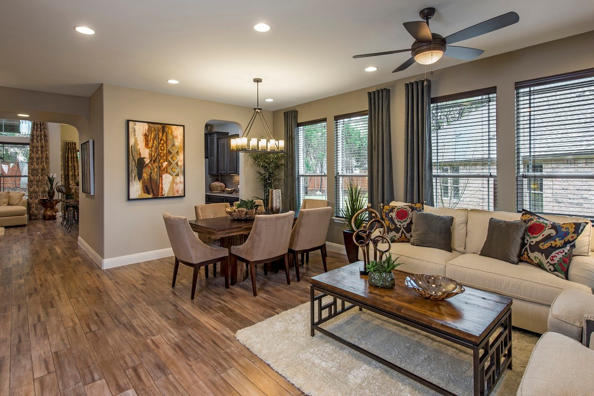 New Homes in Leander, TX - Mason Hills - The Bluffs The L-3471 Living and Dining Room