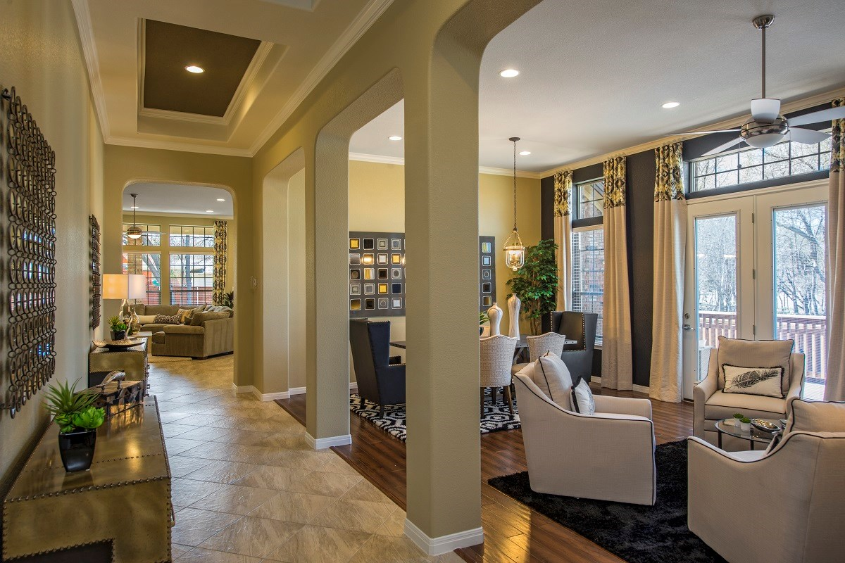 New Homes in Round Rock, TX - Forest Grove Plan L-3005 Living and Dining Room