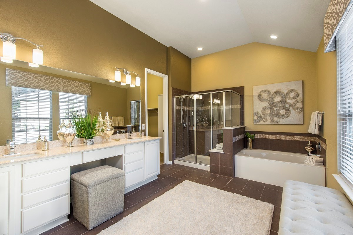 New Homes in Round Rock, TX - Forest Grove Plan L-3005 Master Bath