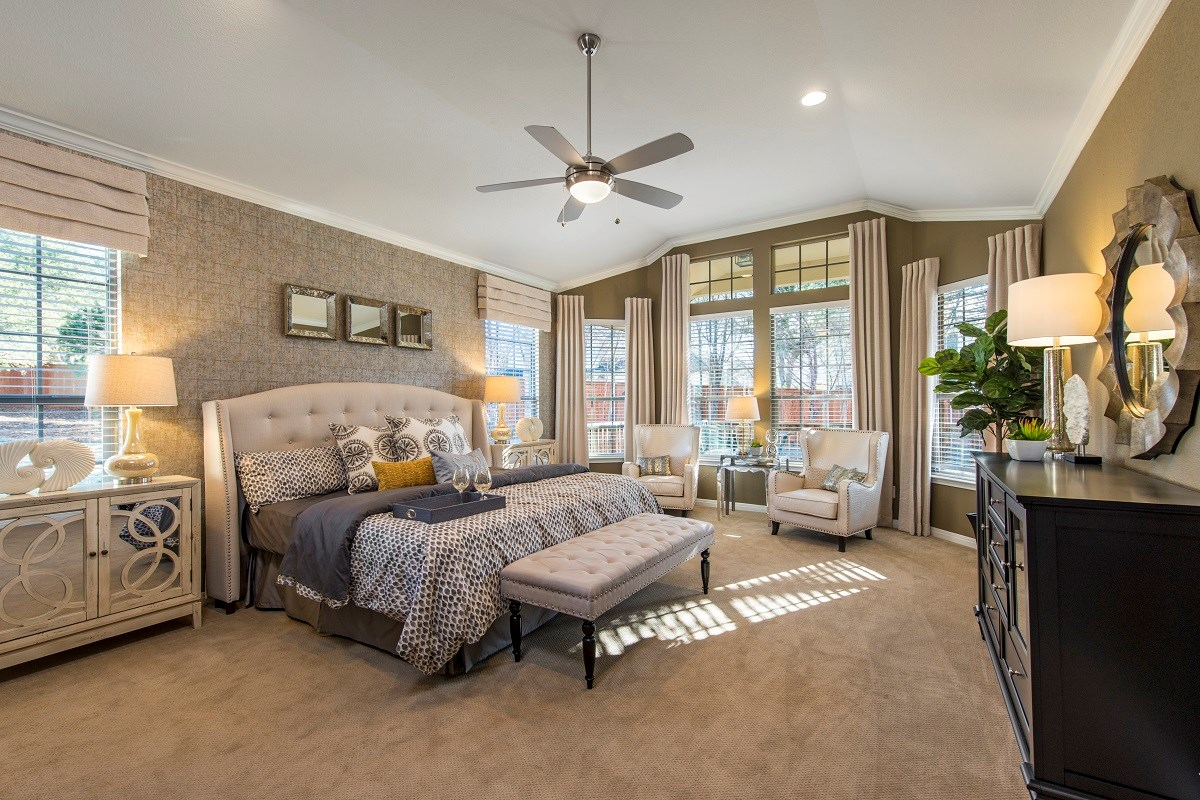 New Homes in Leander, TX - Mason Hills - The Bluffs The L-3005 Master Bedroom