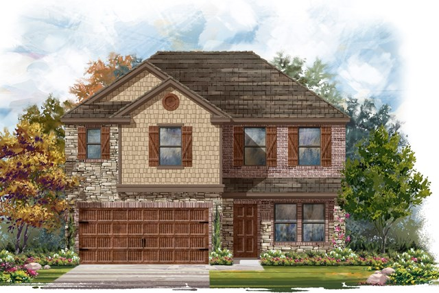New Homes in Round Rock, TX - Plan E-2561 J