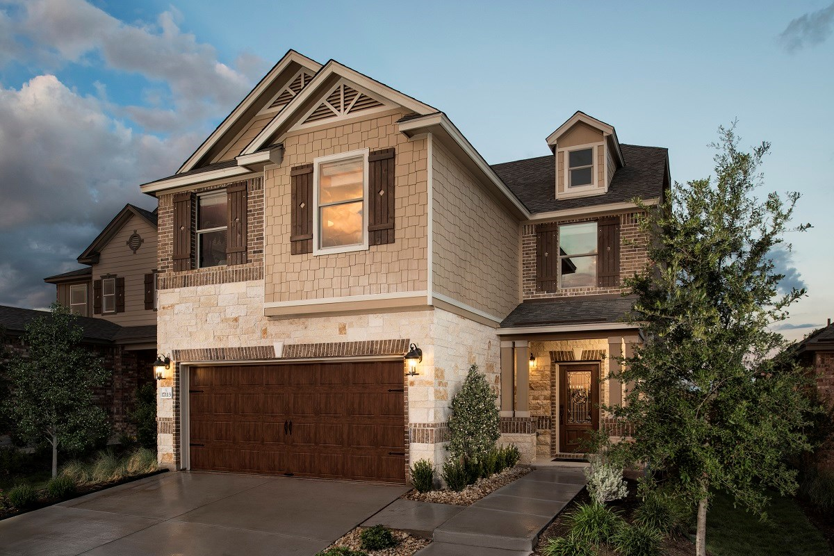 New Homes in Round Rock, TX - Greenlawn Village Plan F-1909