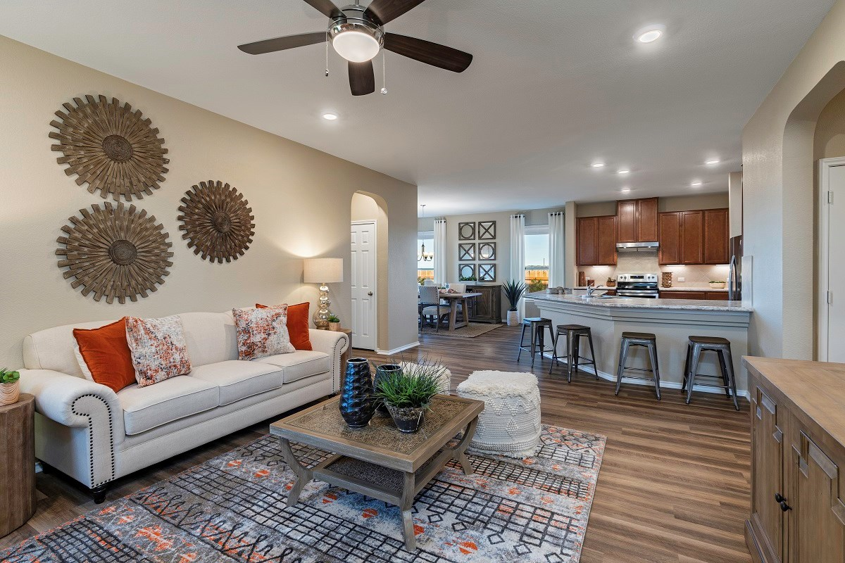 New Homes in Uhland, TX - Highlands at Grist Mill Plan 1647 Great Room